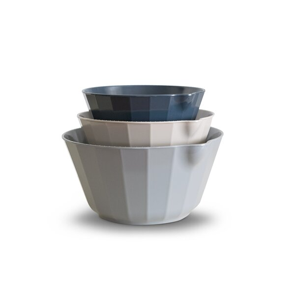 Bade Assorted 3 Piece Melamine Mixing Bowl Set by Mint Pantry