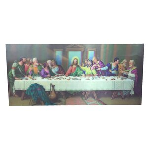 '3D Paint with Last Supper' Graphic Art on Canvas by Creative Motion