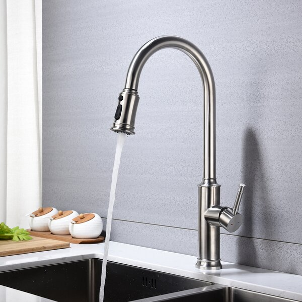 Pull Down Single Handle Kitchen Faucet By QUEENROSS