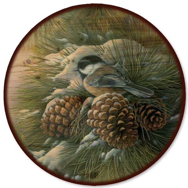 December Dawn Chickadee Lazy Susan by WGI-GALLERY