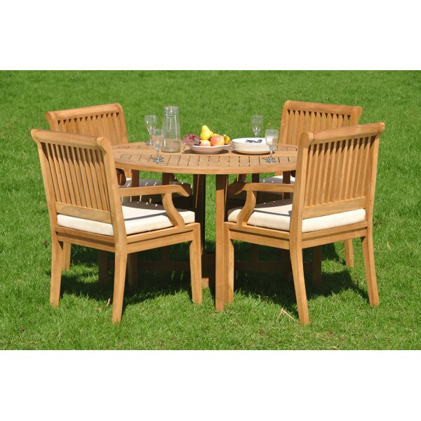 Trevion 5 Piece Teak Dining Set by Rosecliff Heights