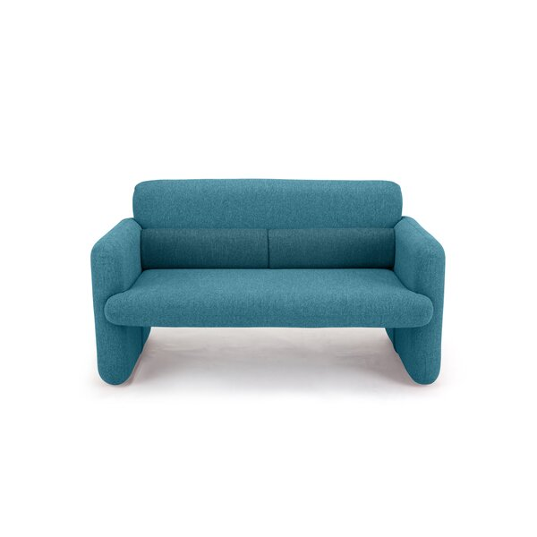 Napolitano Woven Upholstered Sofa by Wrought Studio
