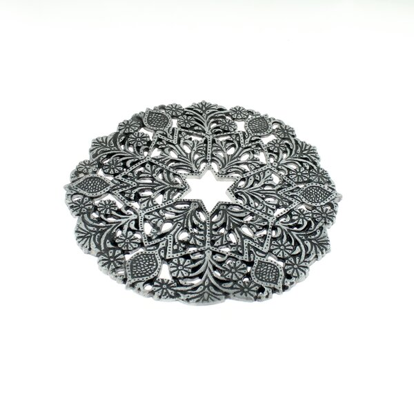 Filigree Flowers Aluminum Trivet by The Holiday Aisle