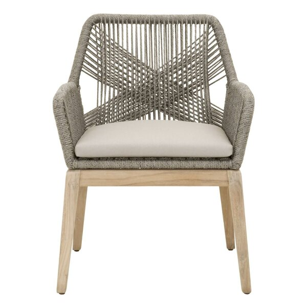 Kiley Teak Patio Dining Chair with Cushion (Set of 2) by Mistana