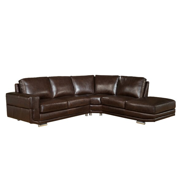 Haverville Leather Sectional by Orren Ellis