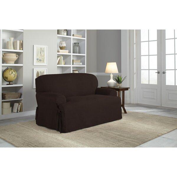 T-Cushion Loveseat Slipcover by Serta