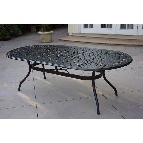 Peebles Aluminum Dining Table by Fleur De Lis Living