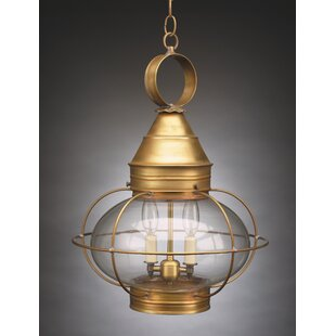 Onion 2-Light Outdoor Hanging Lantern By Northeast Lantern