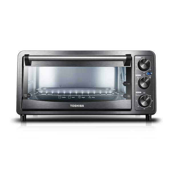 0.4 Cu. Ft. 6 Slice Toaster Oven by Toshiba