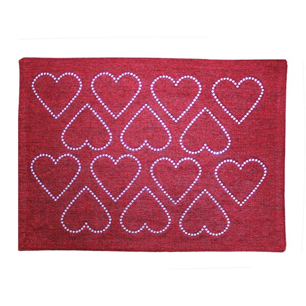 Rhinestone Hearts Placemat by Sparkles Home