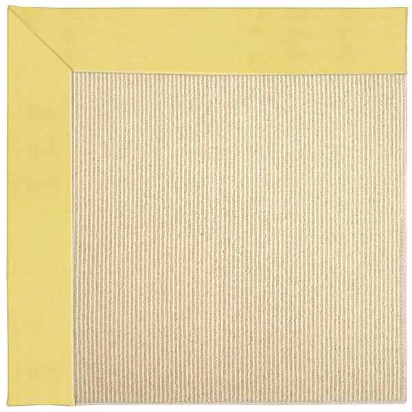 Lisle Machine Tufted Yellow/Beige Indoor/Outdoor Area Rug by Longshore Tides
