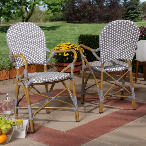 Worsley Stacking Patio Dining Chair (Set of 2) by Bay Isle Home