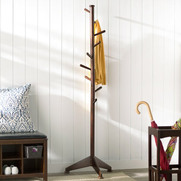 Lily Tree 9 Pegs Coat Rack by Charlton Home