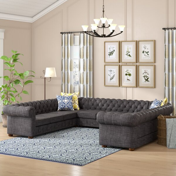 Gowans Collection Symmetrical Sectional by Three Posts