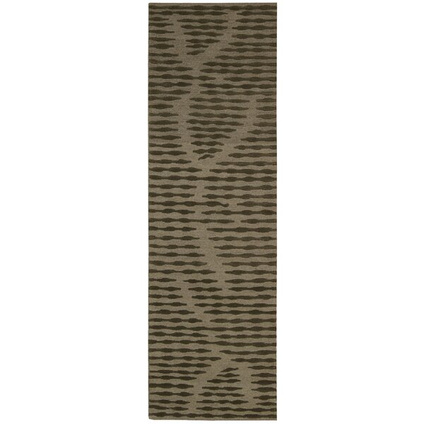 Calvin Klein Home Coastal Cambium Hand-Knotted Wool Brown Area Rug