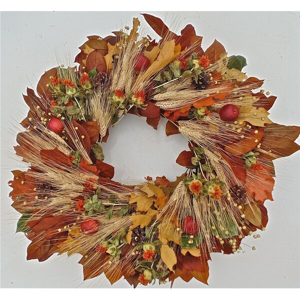 Carmel Fall Wreath by Dried Flowers and Wreaths LLC