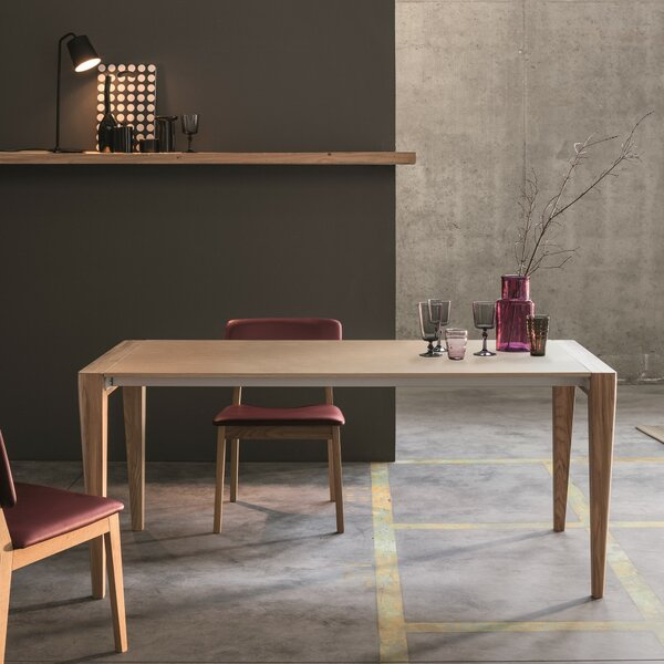 Retro Solid Wood Dining Table by YumanMod
