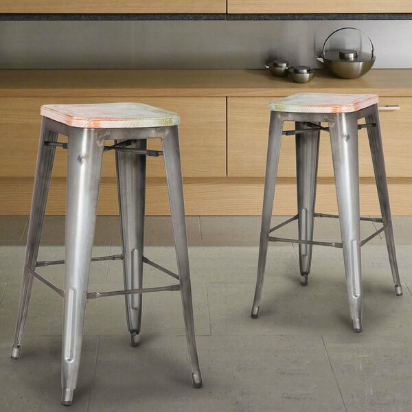 30 Bar Stool (Set of 2) by Adeco Trading