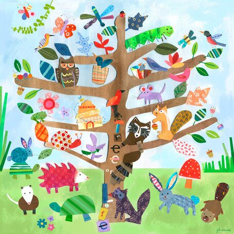 Ollie Tree of Life - Critters Canvas Art by Viv + Rae
