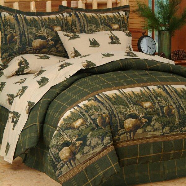 Thurman Rocky Mountain Elk Comforter Set by Loon Peak