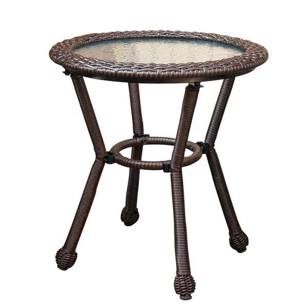 Anchor Lane Resin Wicker Bistro Table by Bay Isle Home