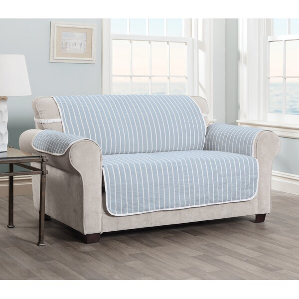 Harper Striped Loveseat Slipcover By Innovative Textile Solutions