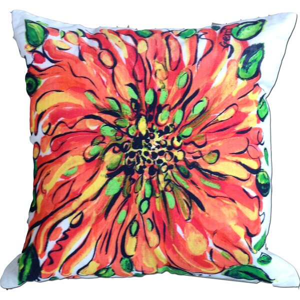 Blossom Cotton Throw Pillow by My Island