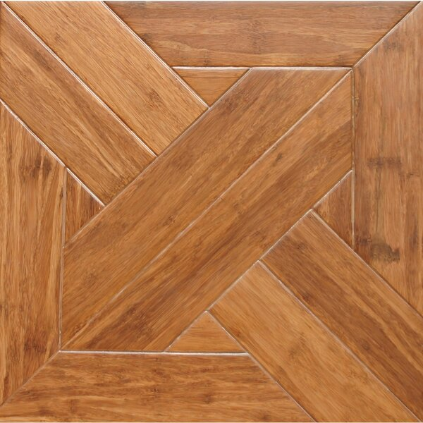 15.75 Engineered Bamboo Wood Parquet Hardwood Flooring in Gothic by Islander Flooring