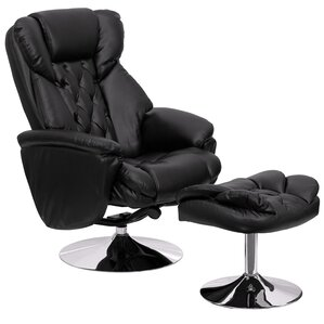 Krystin Manual Swivel Glider Recliner With Ottoman by Latitude Run
