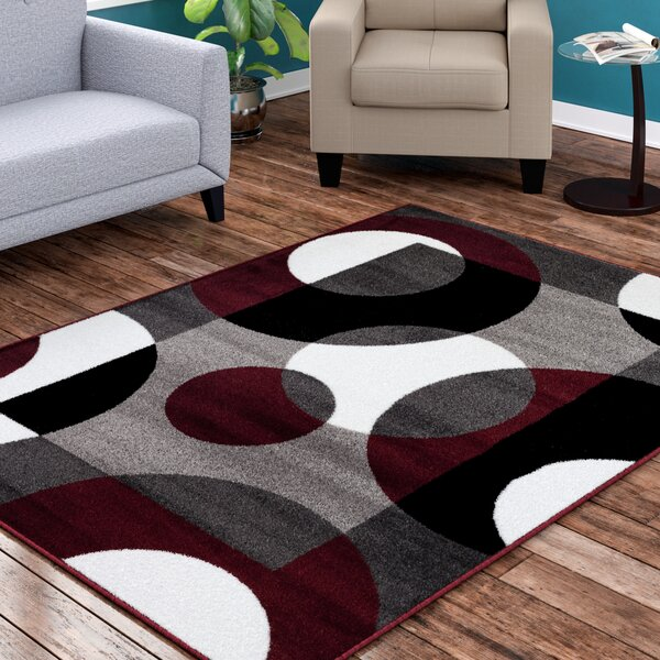 Allison Burgundy Area Rug by Ebern Designs
