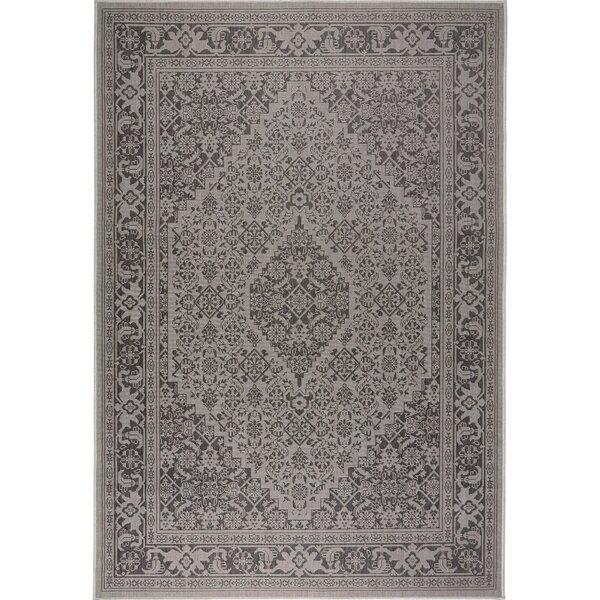 Persian Gray/Black Indoor/Outdoor Area Rug by Nicole Miller