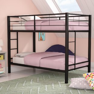 Inexpensive Kline Classic Twin over Twin Bunk Bed with Dual Ladder ByHarriet Bee