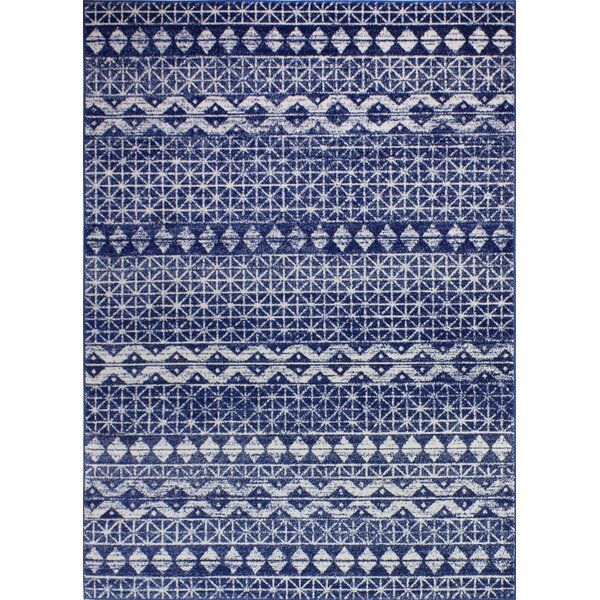 Arlingham Dark Blue Area Rug by Bungalow Rose