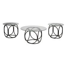 Doppler 3 Piece Coffee Table Set by Latitude Run