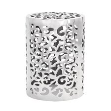 Aluminum Accent Stool by Charlton Home