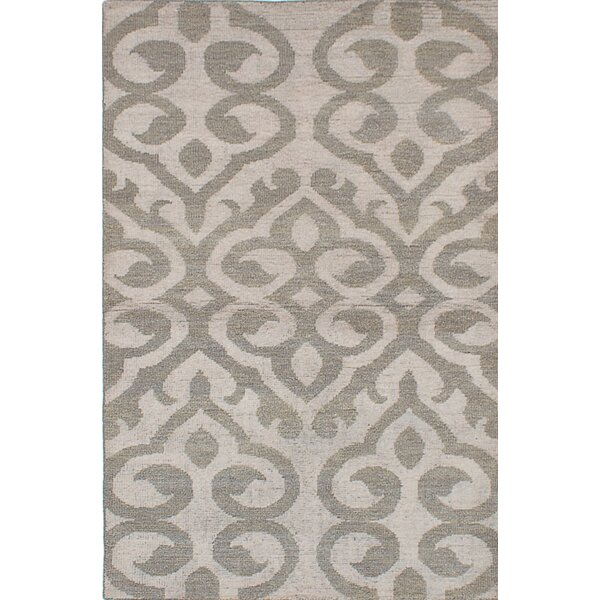 One-of-a-Kind Poplin Hand-Knotted Beige Area Rug by One Allium Way