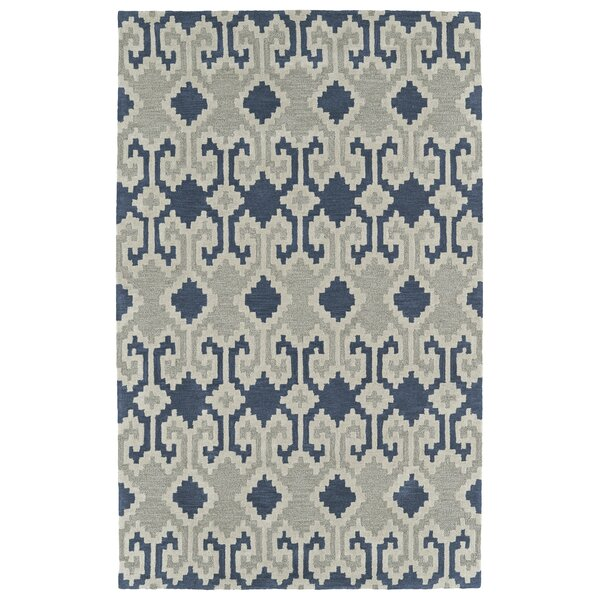 Hinton Charterhouse Hand-Tufted Denim Area Rug by Wrought Studio