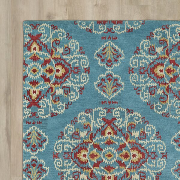 Hocca Hand-Tufted Teal Area Rug by Bungalow Rose