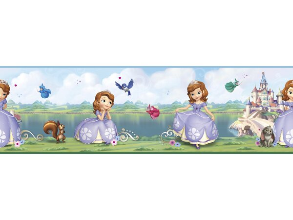 Walt Disney Kids II 9 Sofia/Castle Border Wallpaper by York Wallcoverings