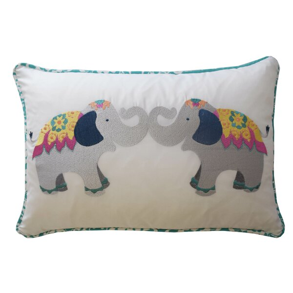 Bollywood Elephant Polyester Lumbar Pillow by Waverly