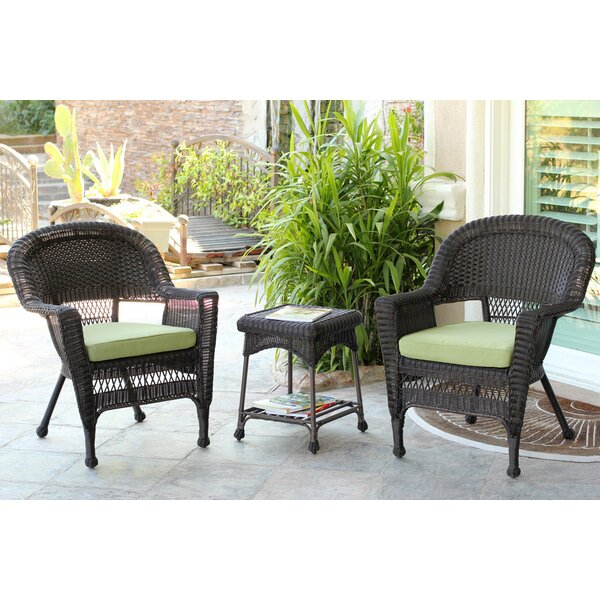 3 Piece Conversation Set with Cushions by Wicker L
