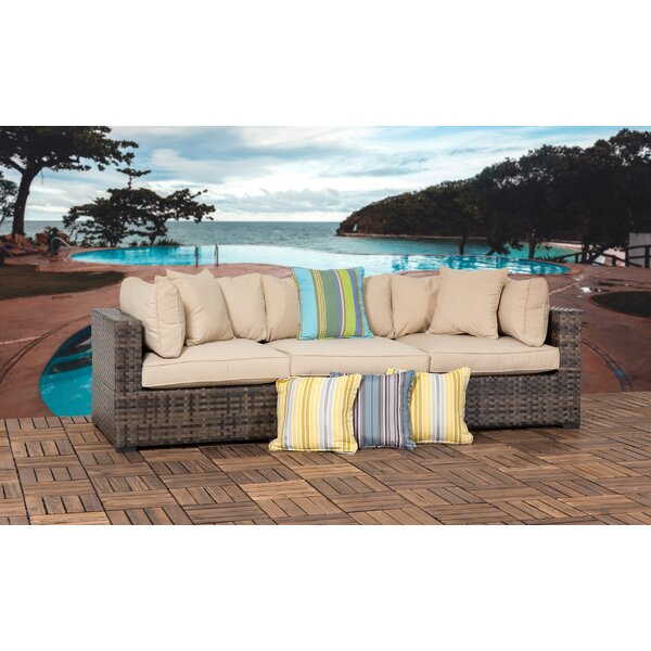 Hathaway Outdoor 3 Piece Wicker Sectional Seating Group with Cushions by Bayou Breeze