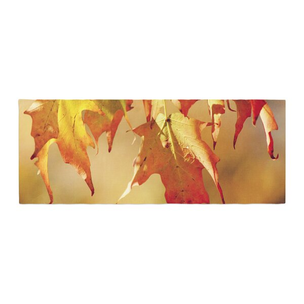 Angie Turner Autumn Leaves Vibrant Bed Runner by East Urban Home