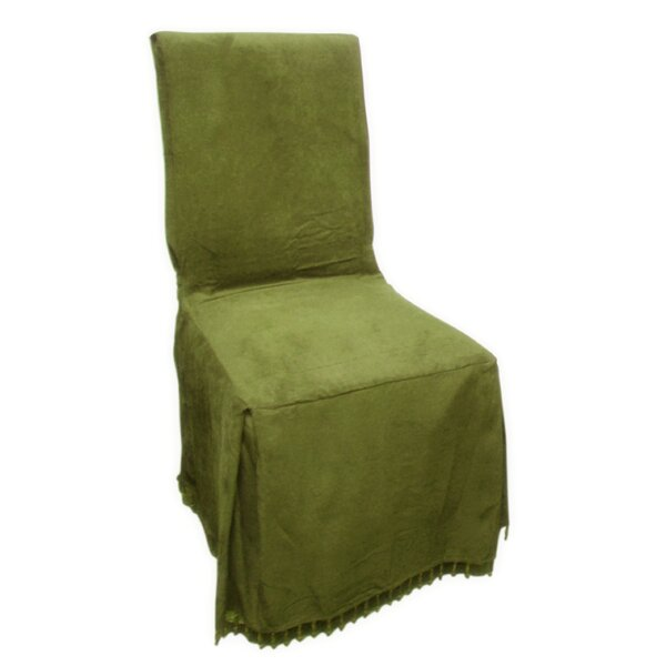 Faux Suede Box Cushion Dining Chair Slipcover By Charlton Home