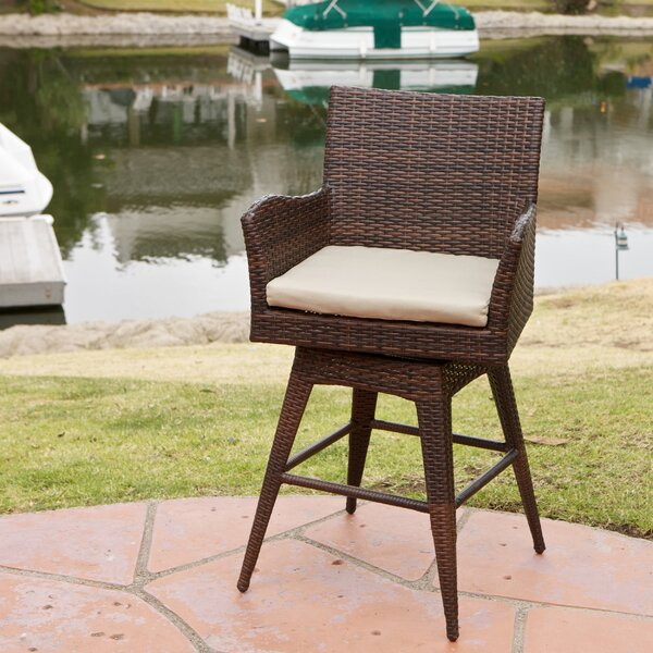Weymouth 29 Wicker Patio Bar Stool by Beachcrest Home| @ $249.00