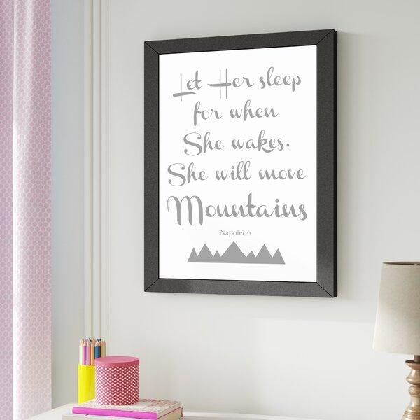 Let Her Sleep Mountains Framed Art by Viv + Rae
