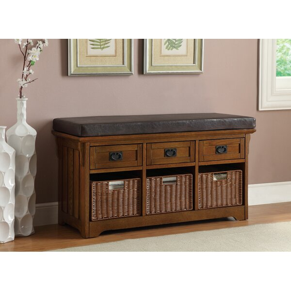 Roche Accent Hallway Entryway Upholstered Storage Bench by Canora Grey