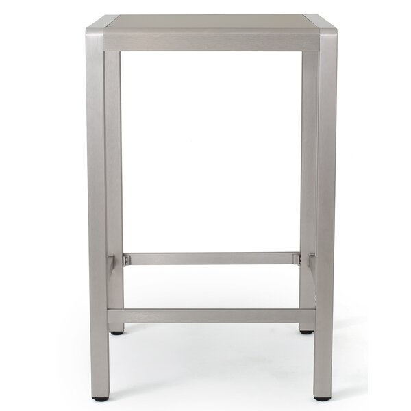 Durbin Outdoor Aluminum Bar Table by Wade Logan