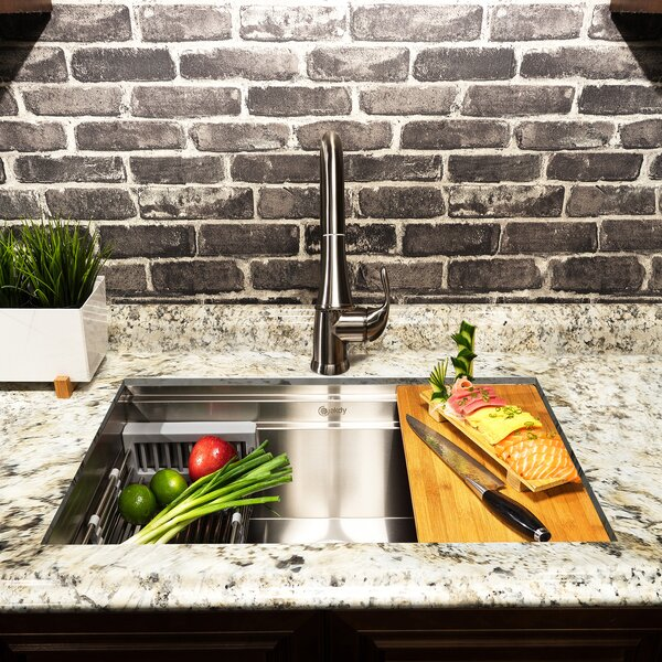 32 x 18 Undermount Kitchen Sink with Drain Strainer by AKDY