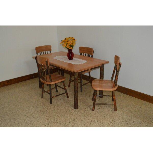 Wyton 5 Piece Solid Wood Dining Set by Loon Peak